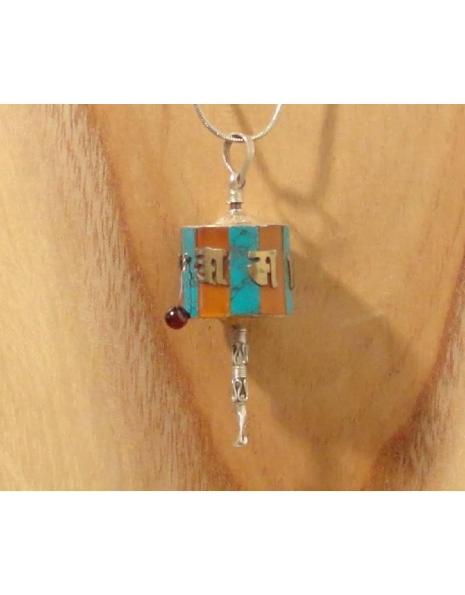 Tibetaanse hanger gebedsmolen L