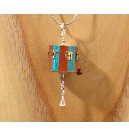 Tibetaanse hanger gebedsmolen M