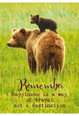 ZintenZ postkaart Remember happiness is a way