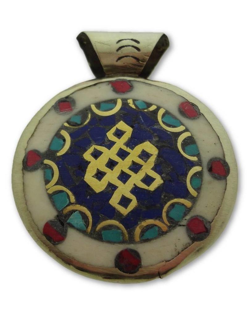 Dakini Tibetan pendant Shrivatsa