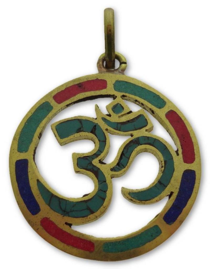 Dakini Tibetan pendant Ohm brass