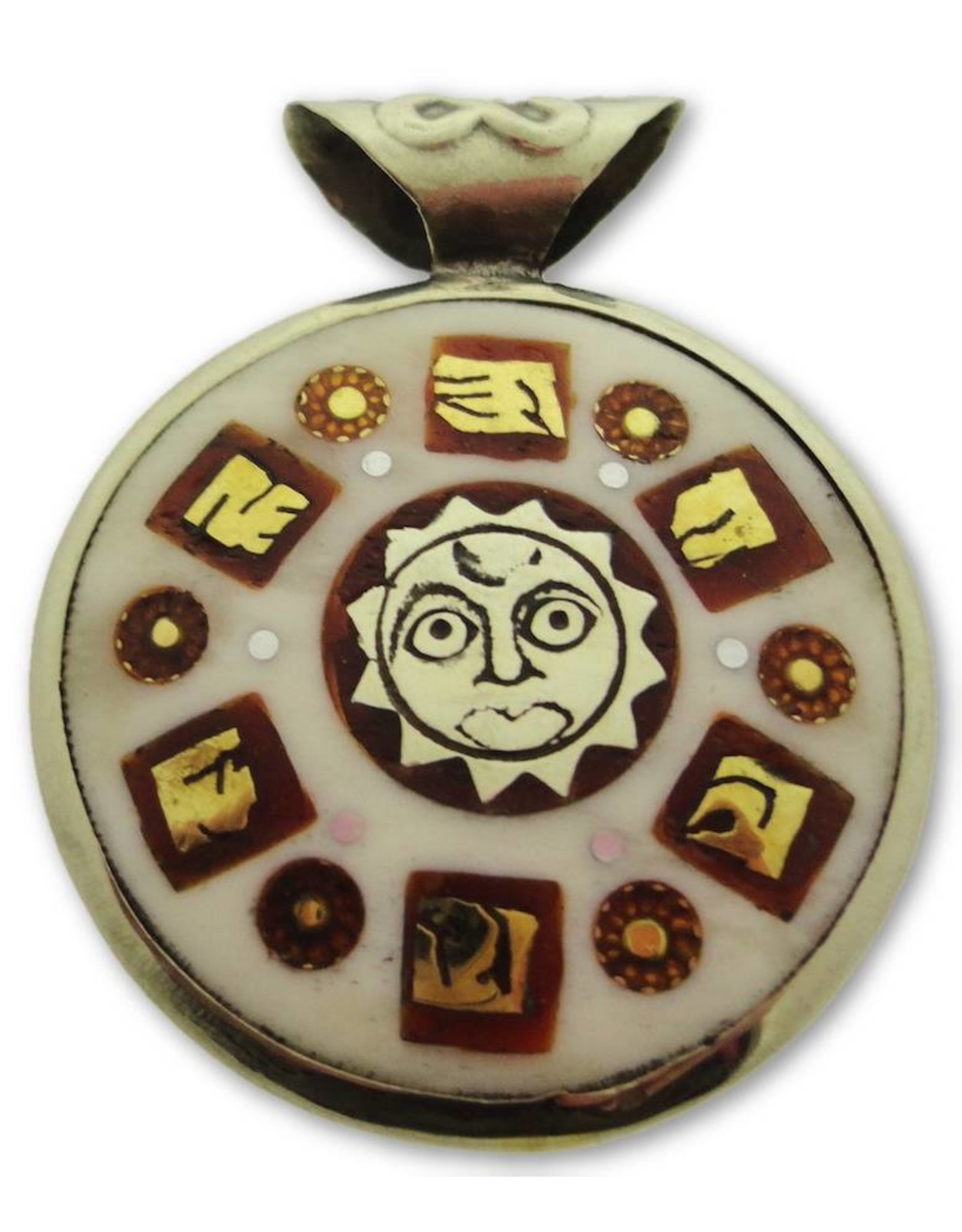 Dakini Tibetan pendant Ohm white
