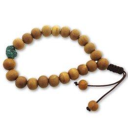 Dakini Mala armband sandelhout turquoise