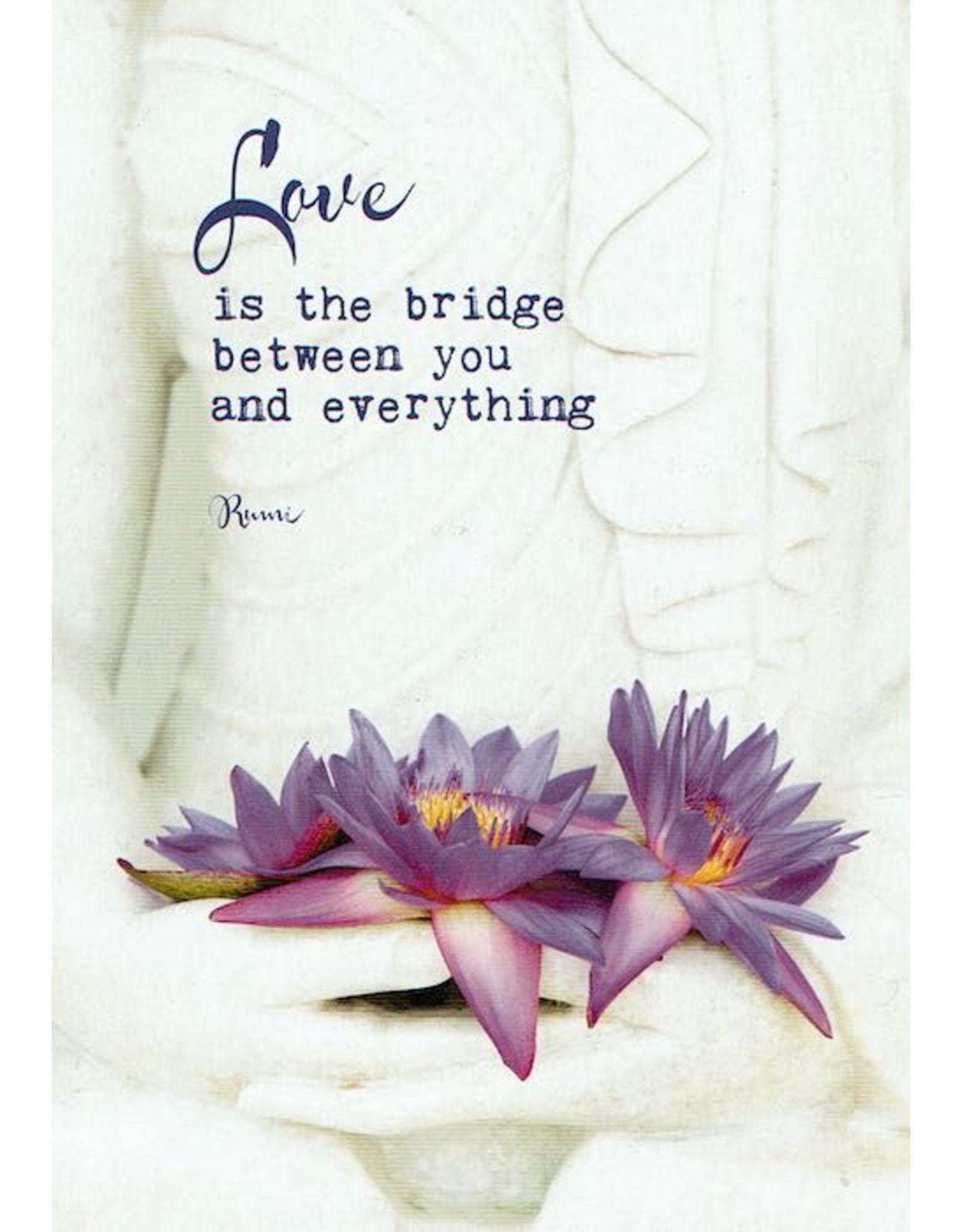 ZintenZ postkaart Love is the bridge