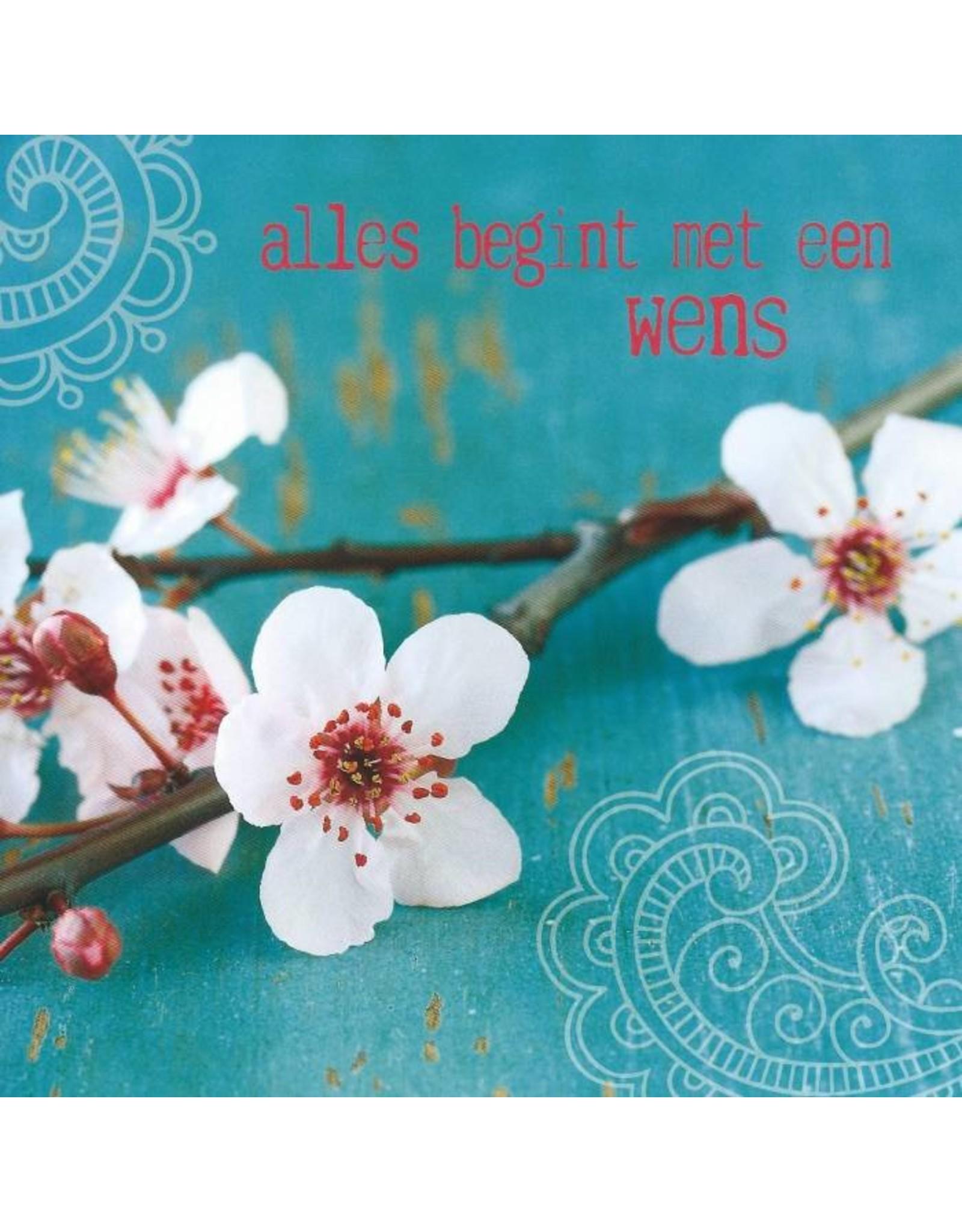 ZintenZ postkaart Alles begint met een wens