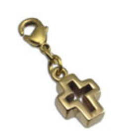 Shanti charm cross brass