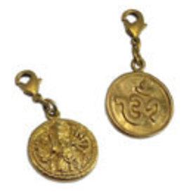 Shanti charm Ganesha & Ohm brass