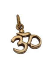 Shanti pendant Ohm recycled brass