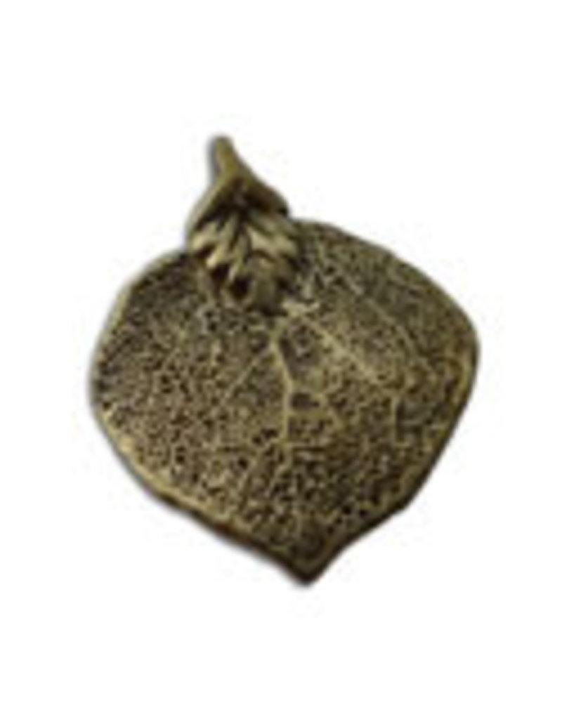 Shanti pendant Bodhi leaf brass
