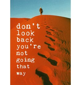 ZintenZ postcard Don't look back