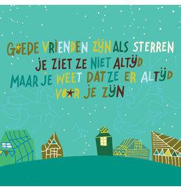 ZintenZ postcard Goede vrienden zijn als sterren