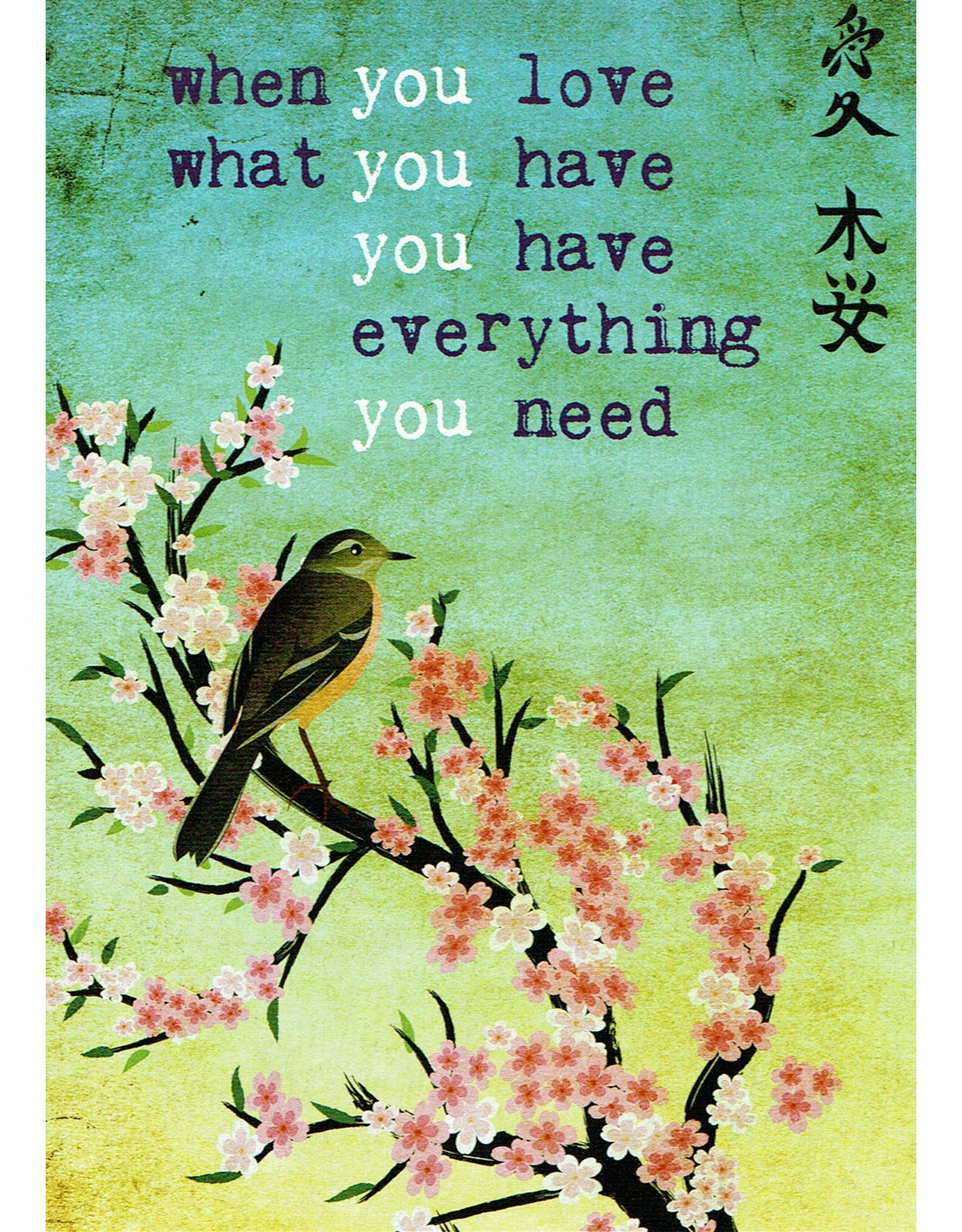 ZintenZ postcard When you love what you have