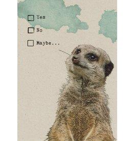 ZintenZ postkaart Yes No Maybe