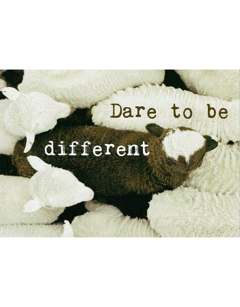 ZintenZ postkaart Dare to be different