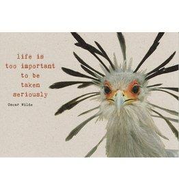 ZintenZ postkaart Life is too important
