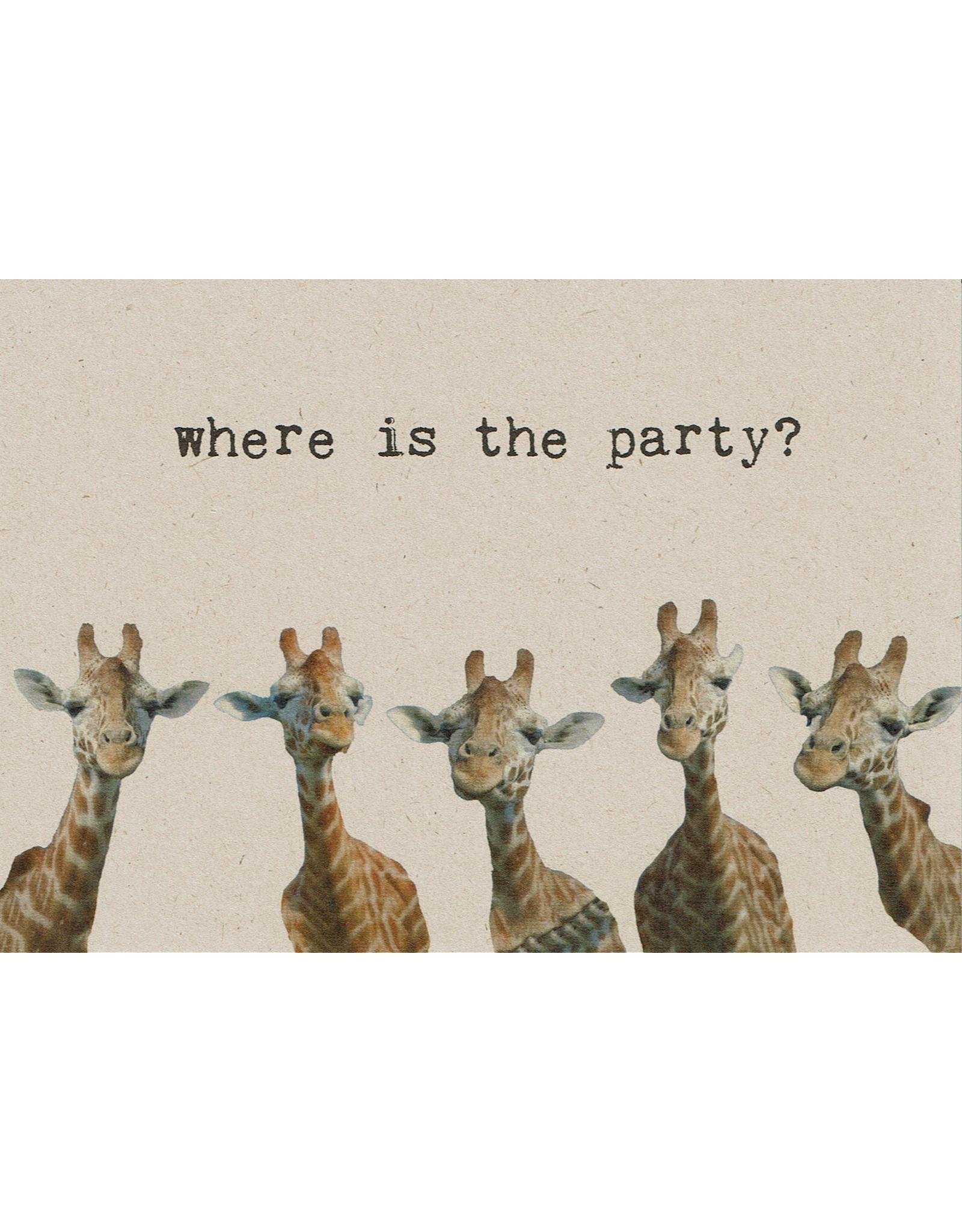 ZintenZ postkaart Where is the party?