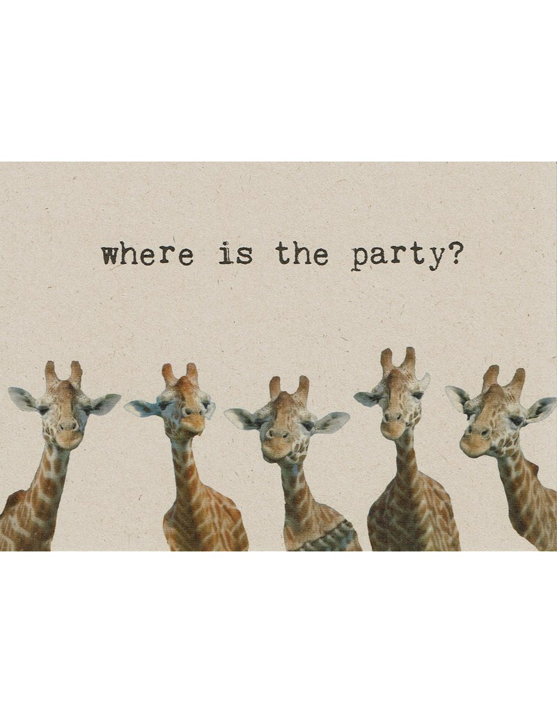 ZintenZ postcard Where is the party?