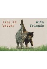 ZintenZ postcard Life is better with friends