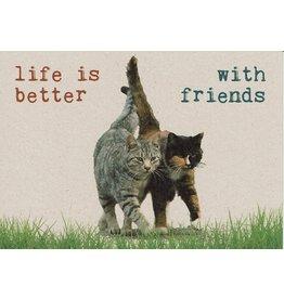 ZintenZ postkaart Life is better with friends