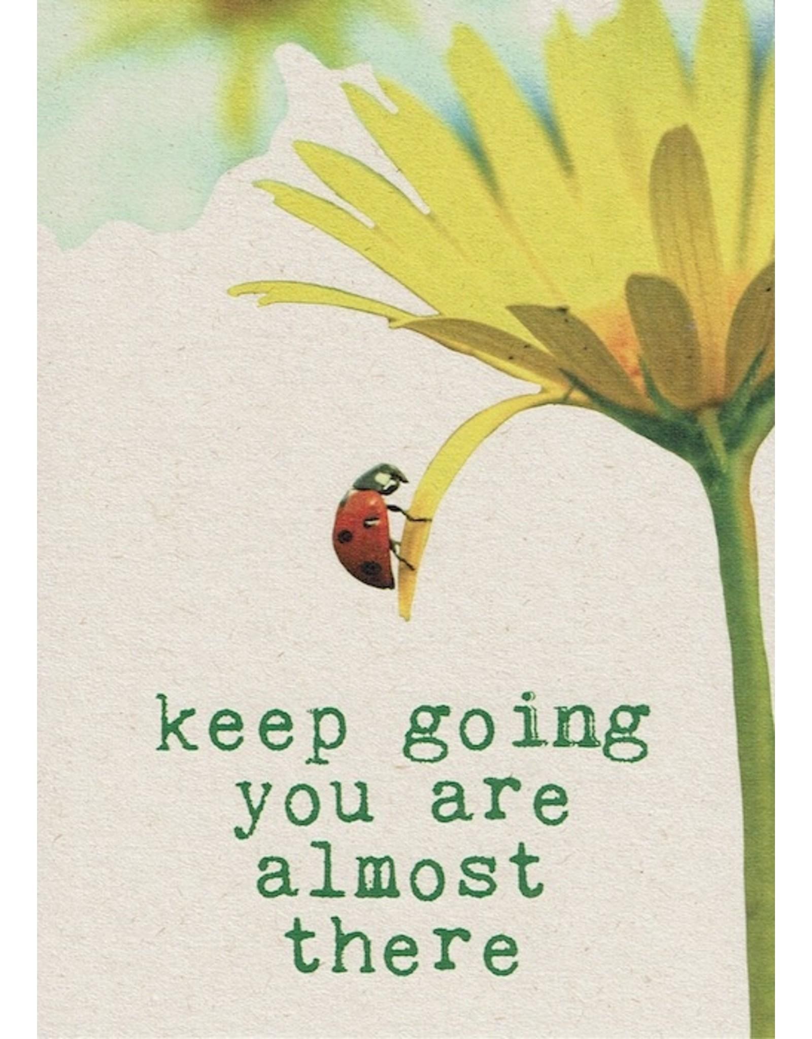 ZintenZ postkaart Keep going
