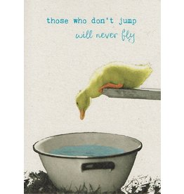 ZintenZ postcard Those who don't jump