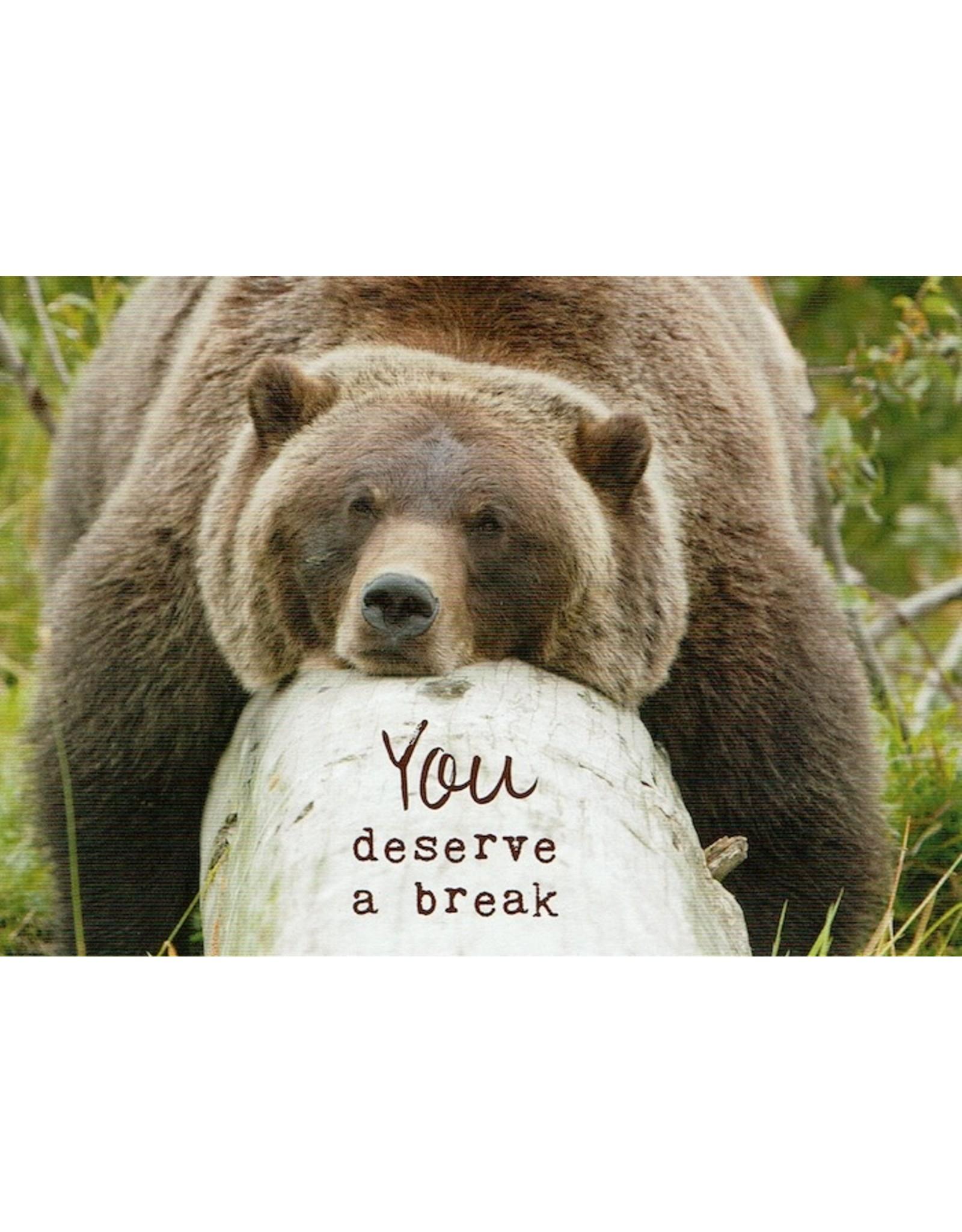 ZintenZ postcard You deserve a break