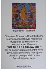 Dakini Tibetaans mini bescherm amulet Manjushri
