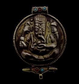 Tibetan prayerbox Ganesh