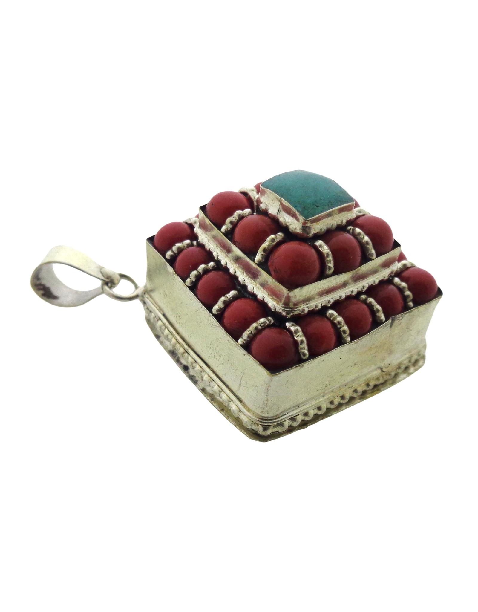 Dakini Tibetaanse Gau box vierkant