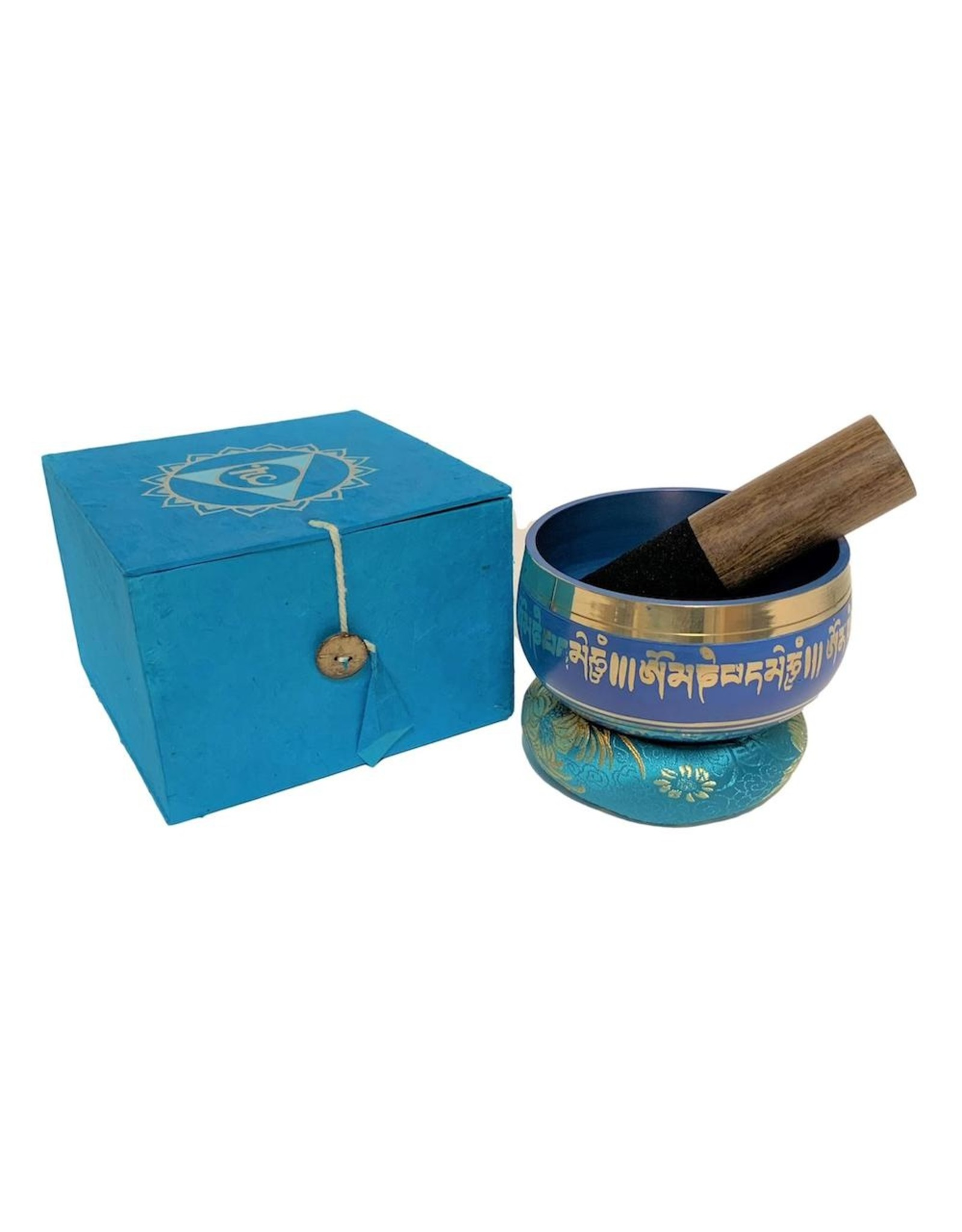 Dakini singing bowl set Lotus blue