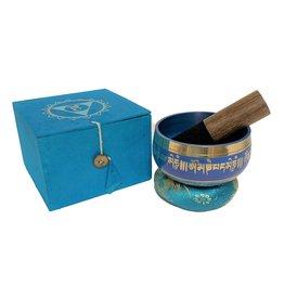 Dakini klankschaal set Lotus blauw