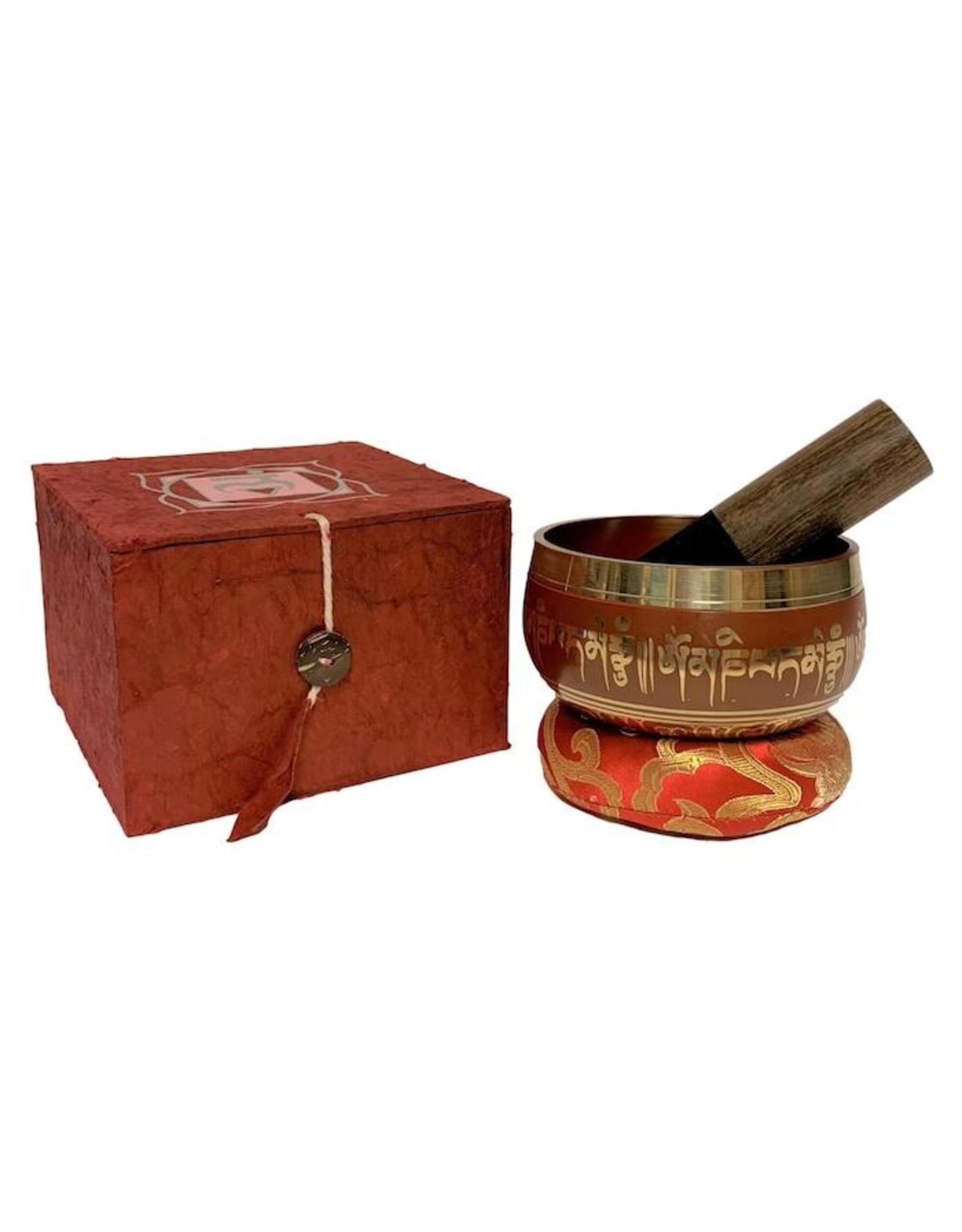 Dakini singing bowl set Lotus red