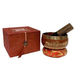 Dakini singing bowl set Lotus red