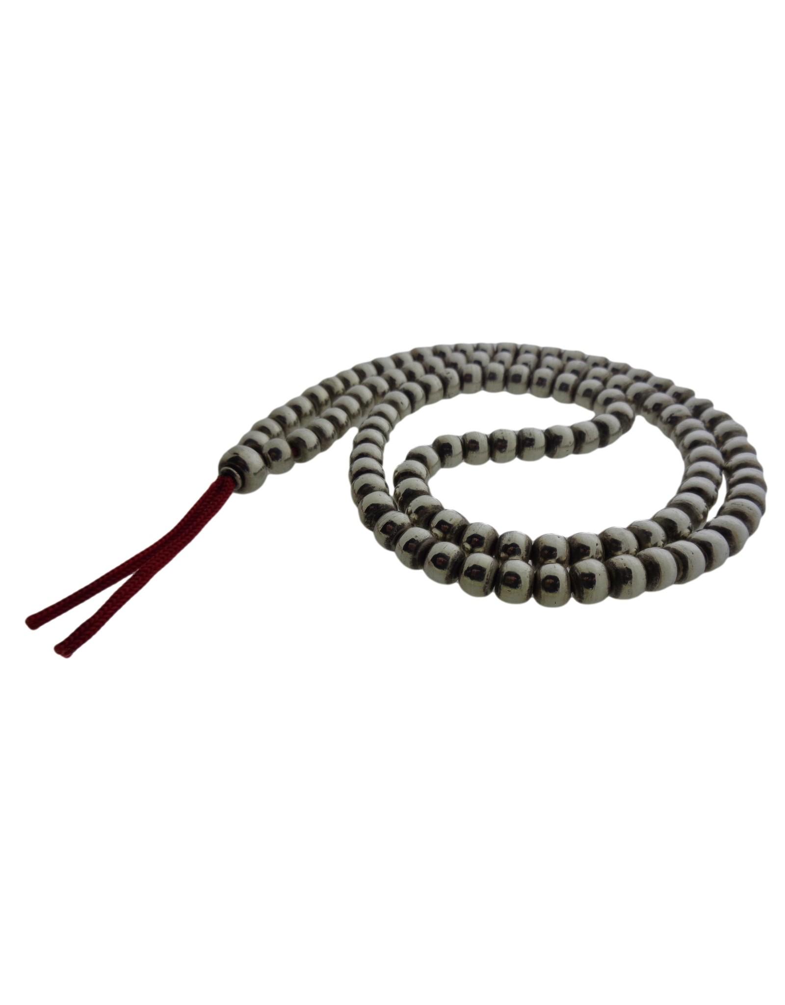 Dakini mala with handmade silver beads