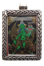 Dakini silver thangka pendant Green Tara
