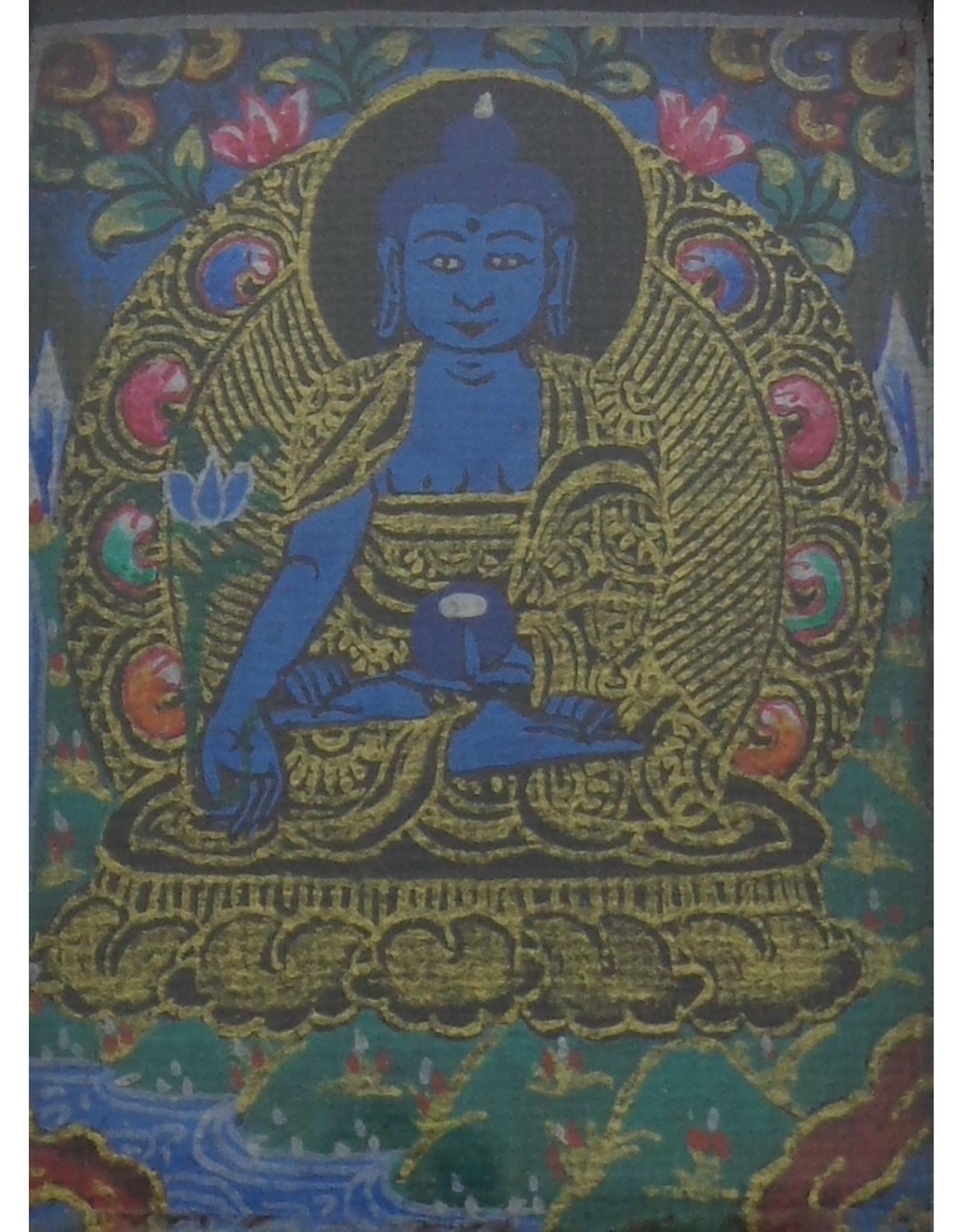 Dakini zilveren thangka hanger Medicijn Boeddha