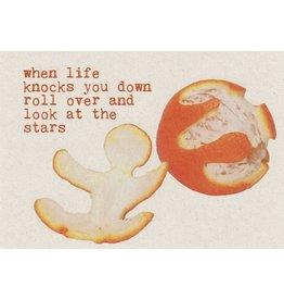ZintenZ postcard When life knocks you down