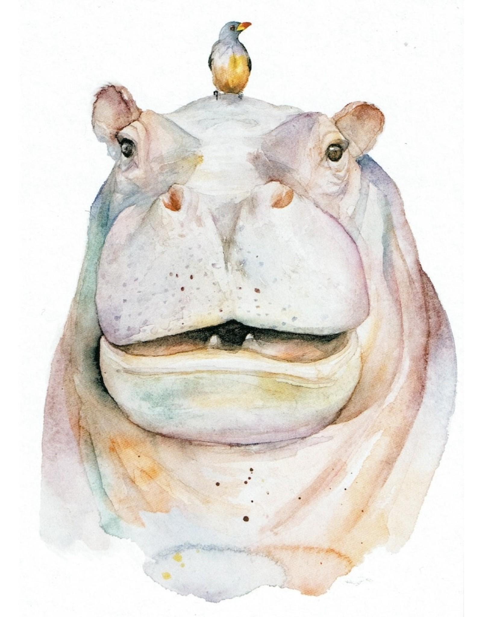ZintenZ postkaart Nijlpaard