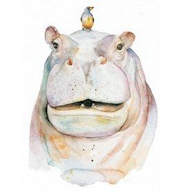 ZintenZ postcard Hippo