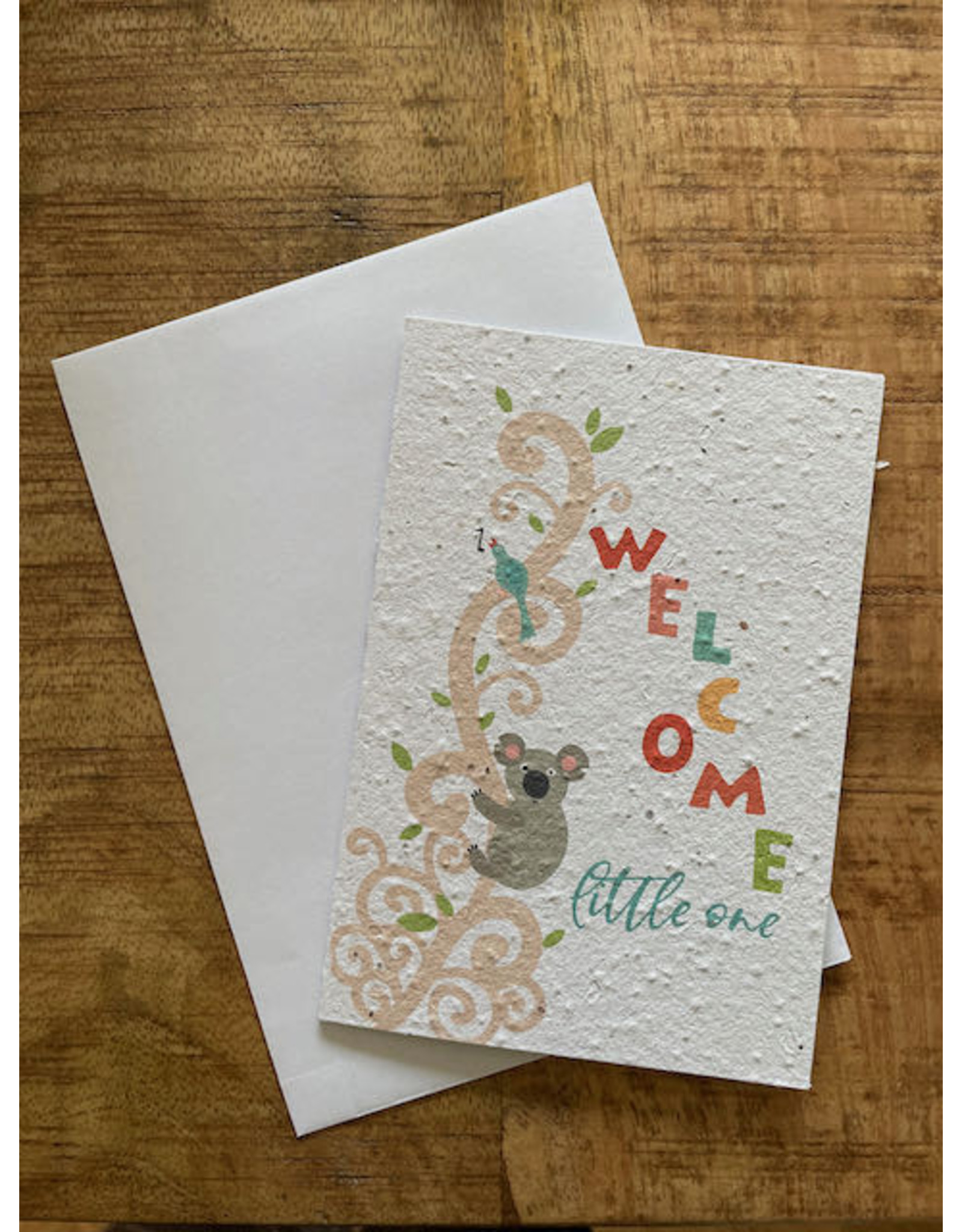 Barbosa Fair Trade postcard Welcome little one