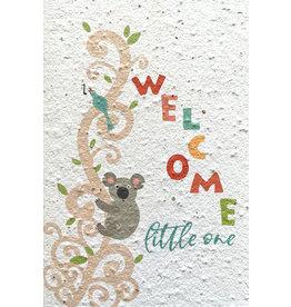 Barbosa Fair Trade wenskaart Welcome little one