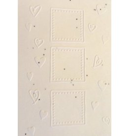 Cotton growing paper postcard with hearts