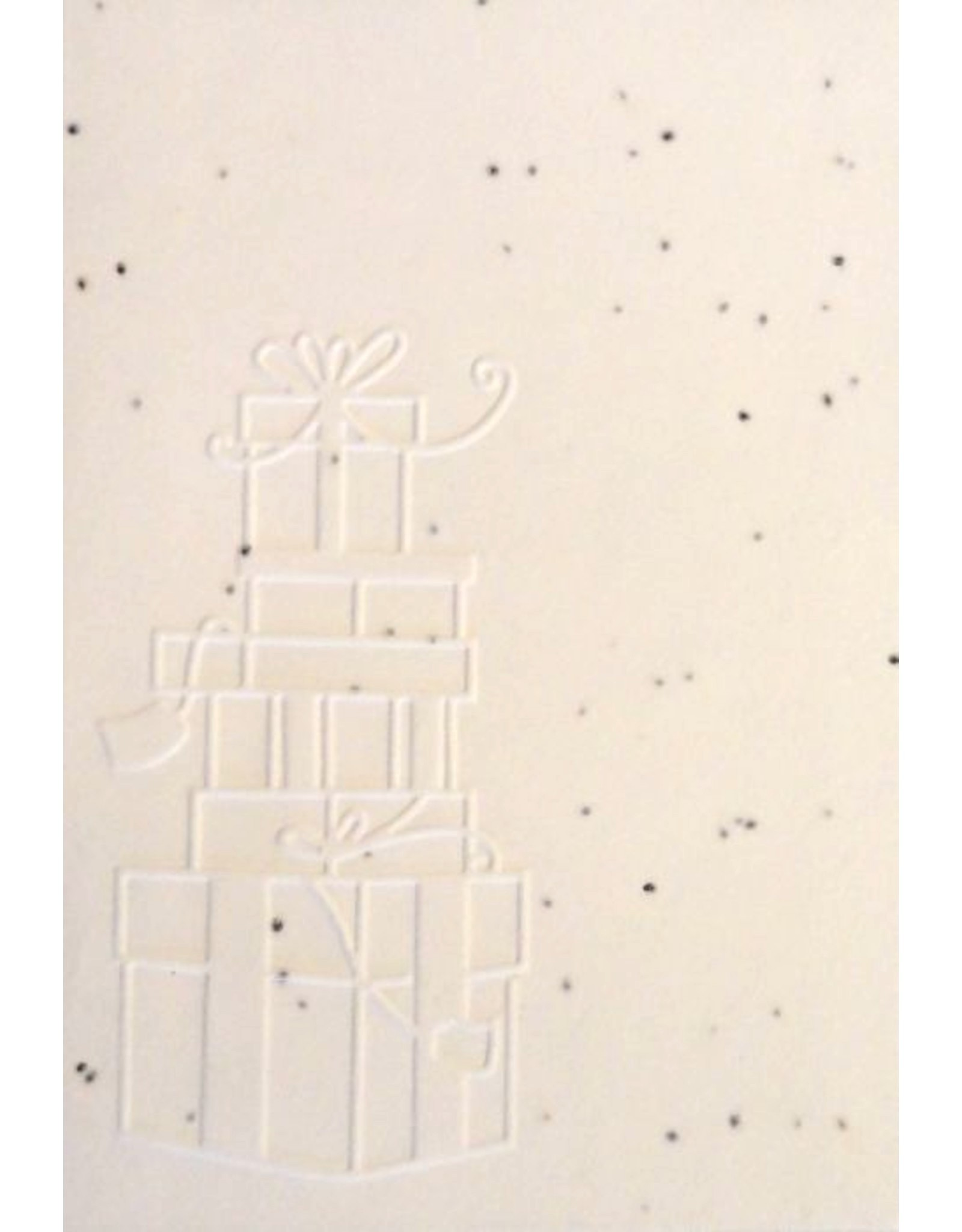 Cotton growing paper postcard with gifts