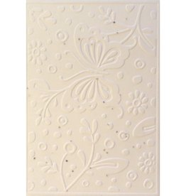 Cotton growing paper postcard with butterfly