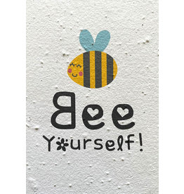 Barbosa Fair Trade postcard Bee Yourself