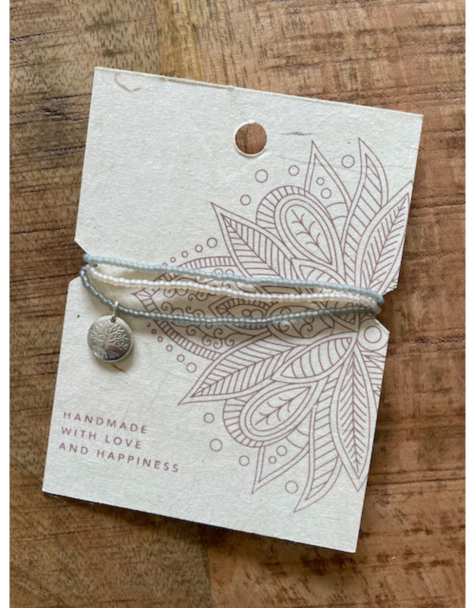 Bracelet with 3 bands and tree of life charm