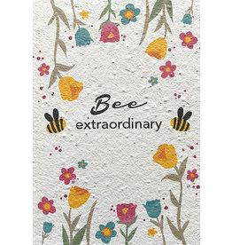 Barbosa Fair Trade postcard Bee Extraordinary