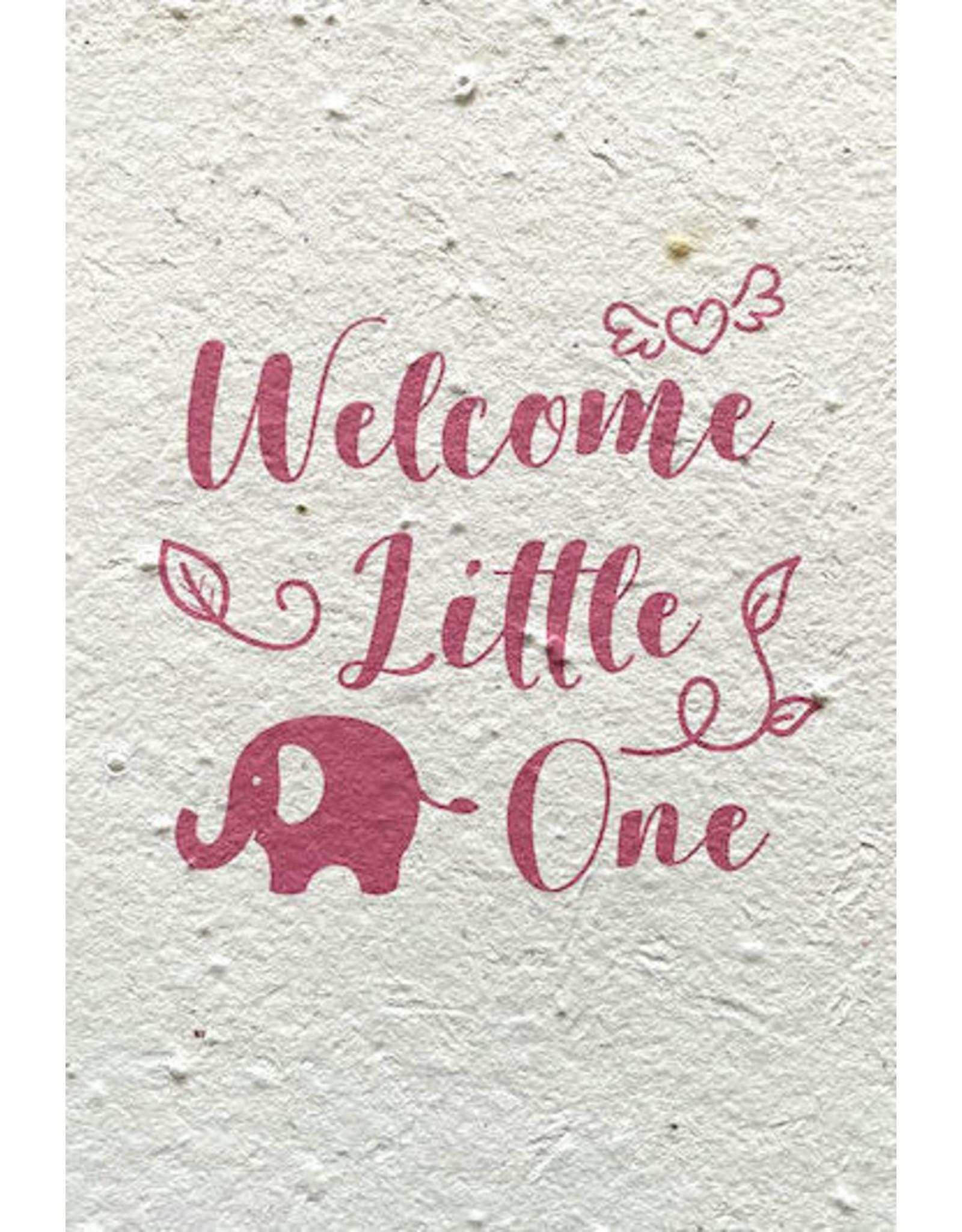 Barbosa Fair Trade postcard Birth Welcome pink