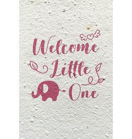 Barbosa Fair Trade wenskaart Geboorte Welcome roze