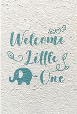 Barbosa Fair Trade postcard Birth Welcome blue